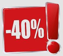 40% скидка на каждую вторую вещь в чеке! только до 3 февраля 2017, включительно!